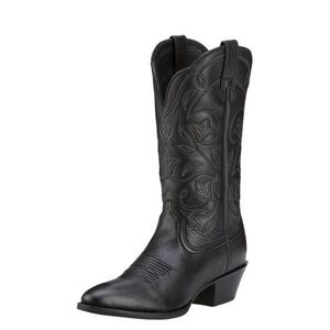 Ariat Heritage R Toe Black Cowboy Western Boots 8